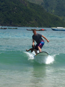 Popping up - Surfing in Kuta, Lombok