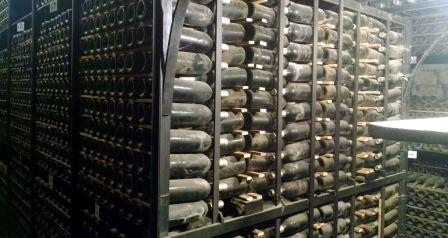 Bottle cellar at Marques de Riscal vineyard