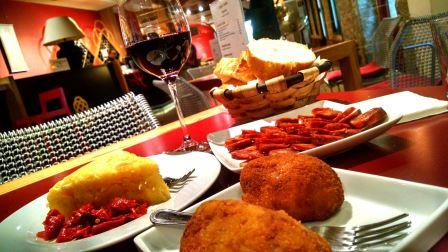 croquettes and chorizo