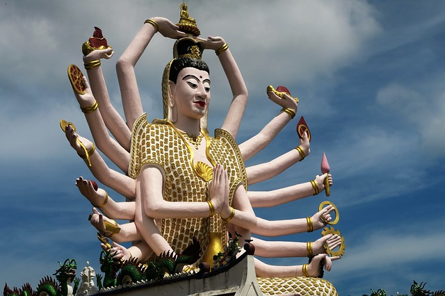 The many handed god in Koh Samui