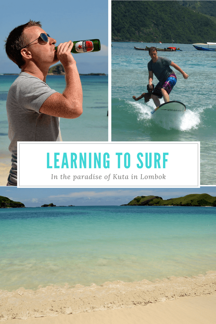 Learn surfing in Kuta, Lombok