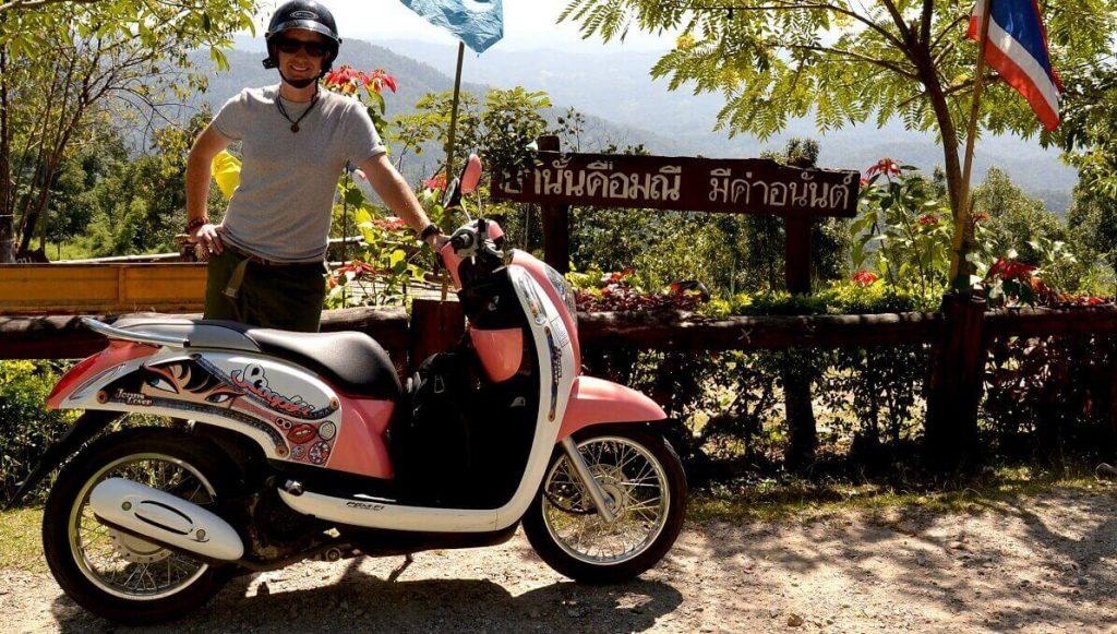 Motorbike on the Samoeng Loop