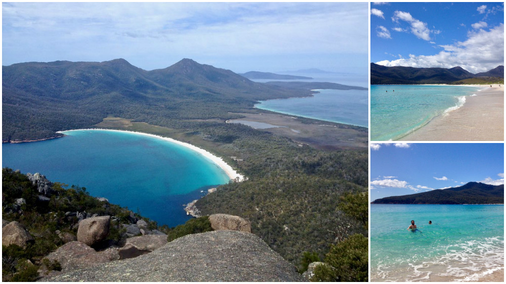 Visiting Wineglass Bay, Tasmania, Australia