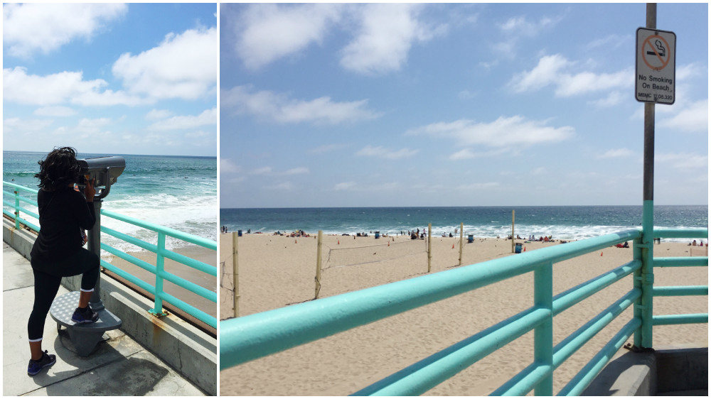 Visiting Manhattan Beach in California