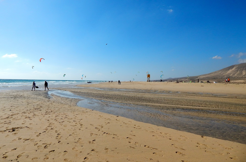 Visiting Playa de Sotavento on Fuerteventura, one of the Canary Islands