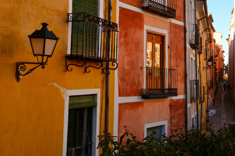 The colourful houses in Cuenca