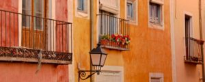 The colourful houses of Cuenca