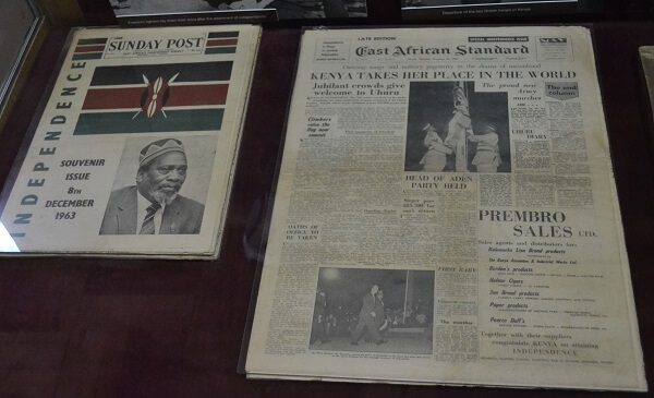 Kenyan newspaper commemorating independence