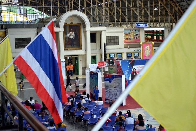 Travel agent inside Bangkok Train Station