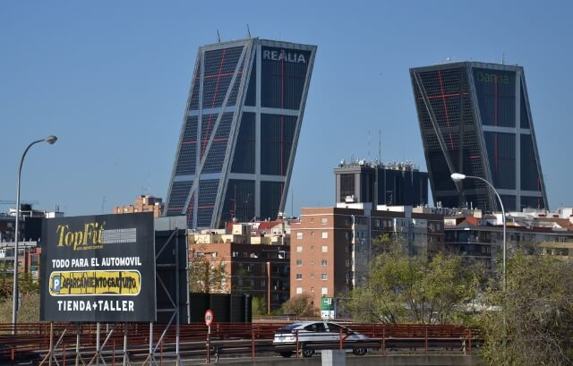 Madrid Bull Horn towers
