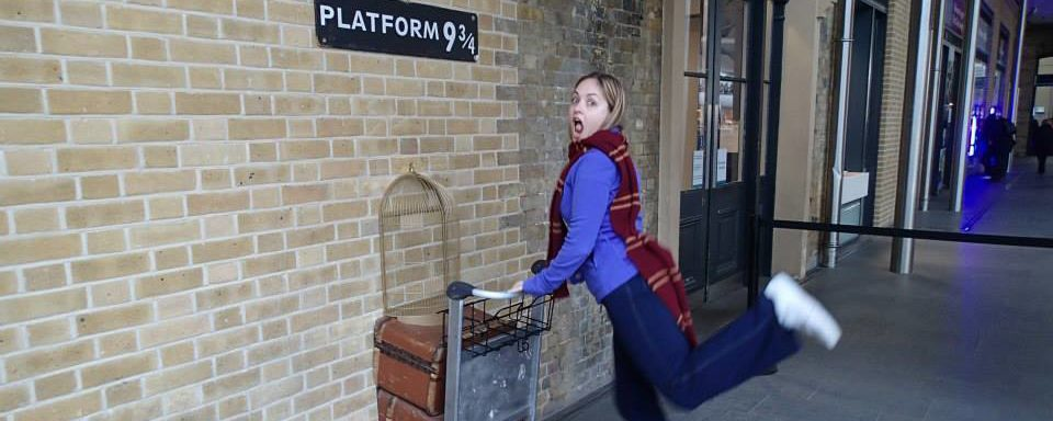 platform 9 and 3 quarters in Kings Cross
