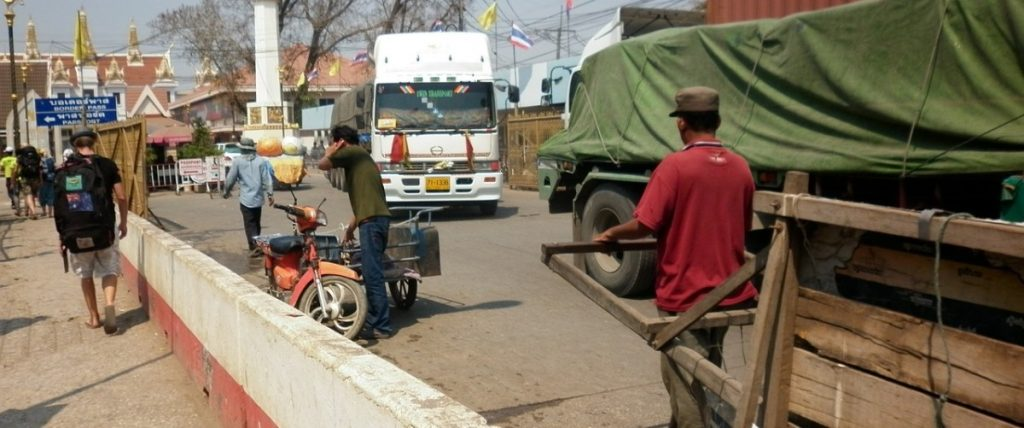 The Thailand Cambodia Poipet Border crossing
