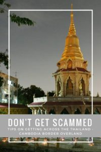 I fond some great advice about the Thai - Cambodian border, check it out