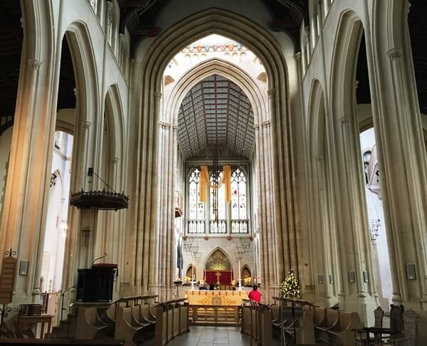 The Main aisle at the St Edmundsbury Cathedral