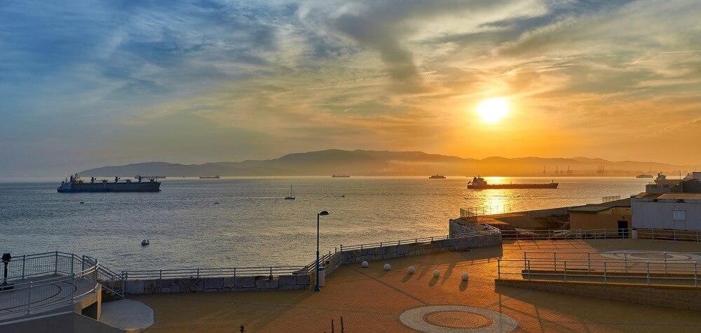 Watch sunset in Gibraltar