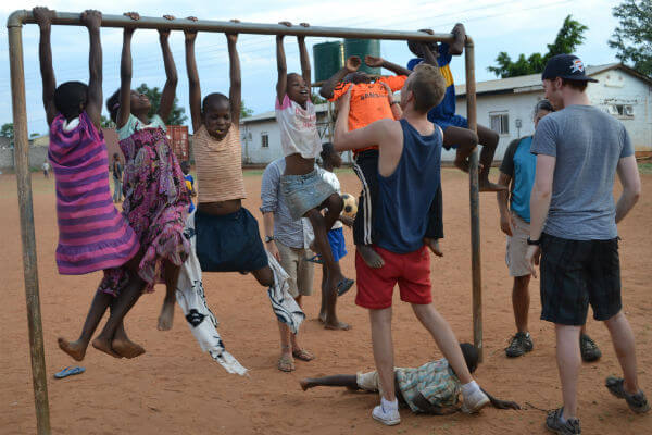 Visiting an orphanage in Livingstone