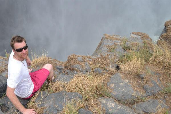 Getting close to the edge of Victoria Falls