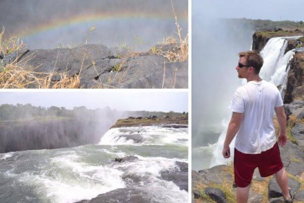 Standing atop Victoria Falls