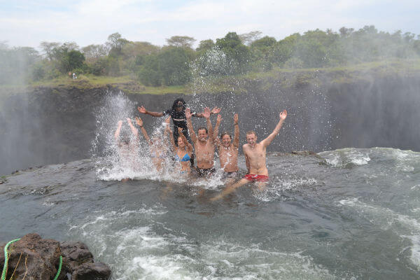 Going to Devil's Pool Zambia
