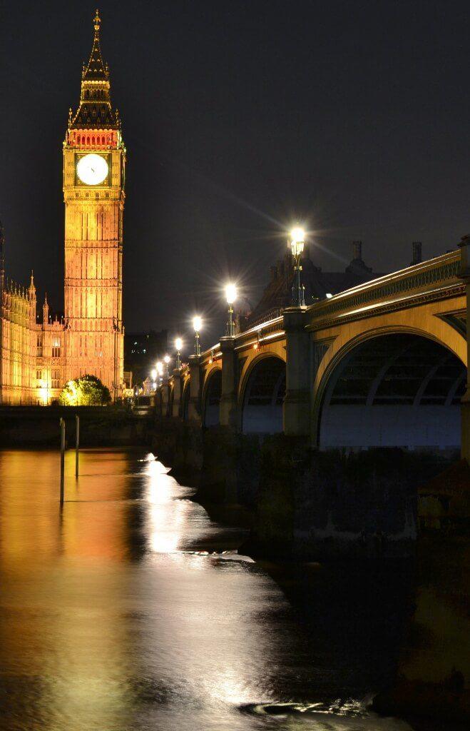 Great shot of Big Ben and Westminster Bridge