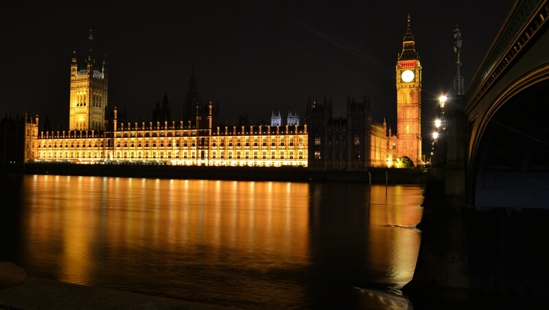 Westminster Palace across the water
