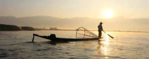 Celebrating Paung Daw Oo at Inle Lake