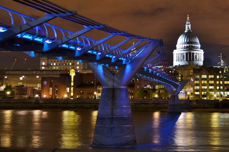 Photo from the riverside of St Paul's Cathedral