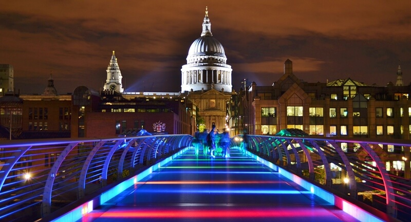 Photo of Millennium Bridge and St Paul's Cathedral