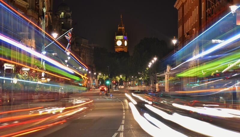 Whitehall links Trafalgar Square to Westminster