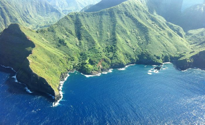 The island on Molokai, part of Hawaii
