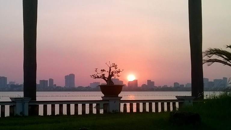 Where to watch a sunset in Hanoi