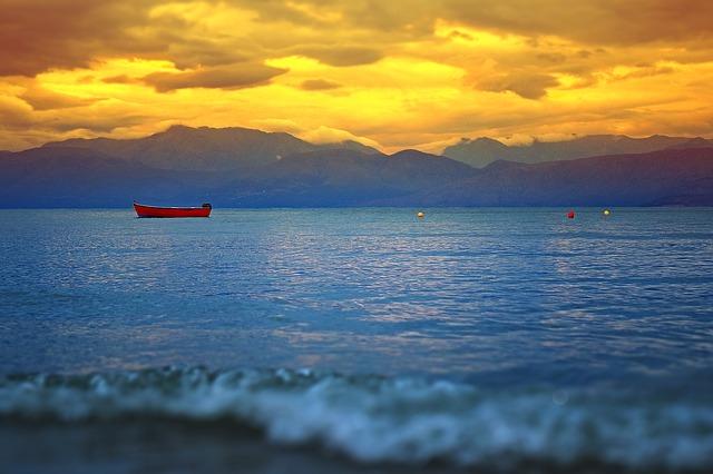 Sunset on the island of Corfu