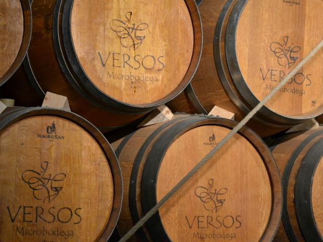 Old barrels adorn the wall