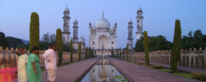 Visiting the Bibi ka Maqbara in Aurangabad, Southern India