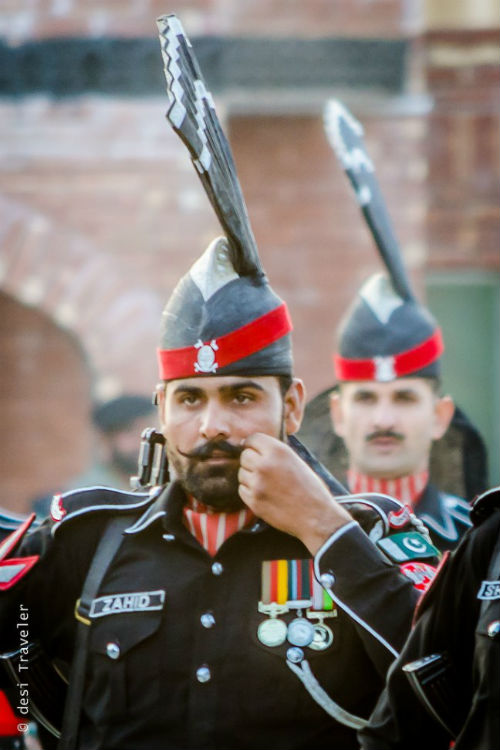 Pakistani Rangers at Joint Check Post Wagah Border