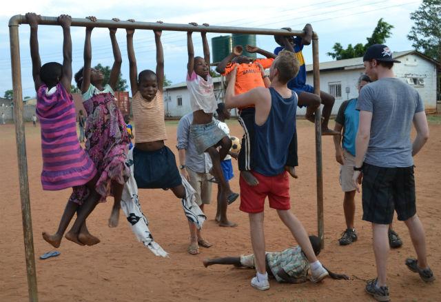Having fun in Livingstone, Zambia