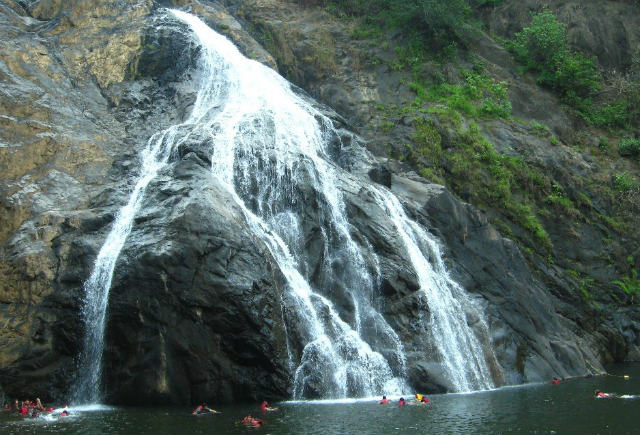 Did you know that you can go swimming in the Dudhsagar Falls in Goa?