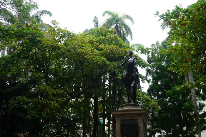 A statue of Simon Bolivar