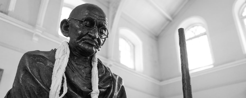 /visiting the home and life of Mahatma Ghandi in Sabarmati Ashram, Ahmedabad