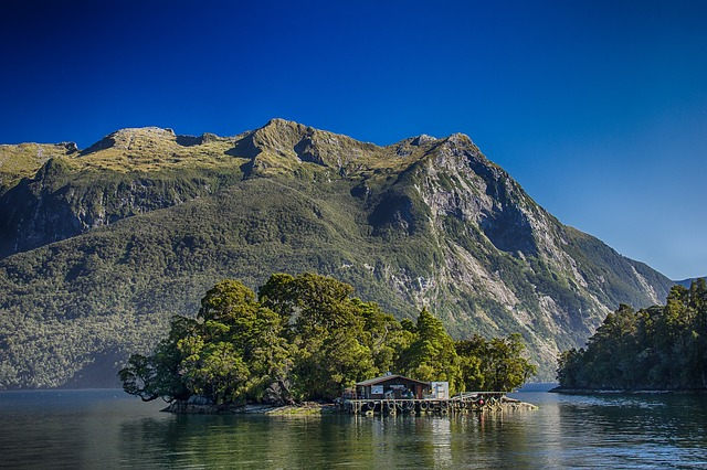 The hut at Doubtful Sound