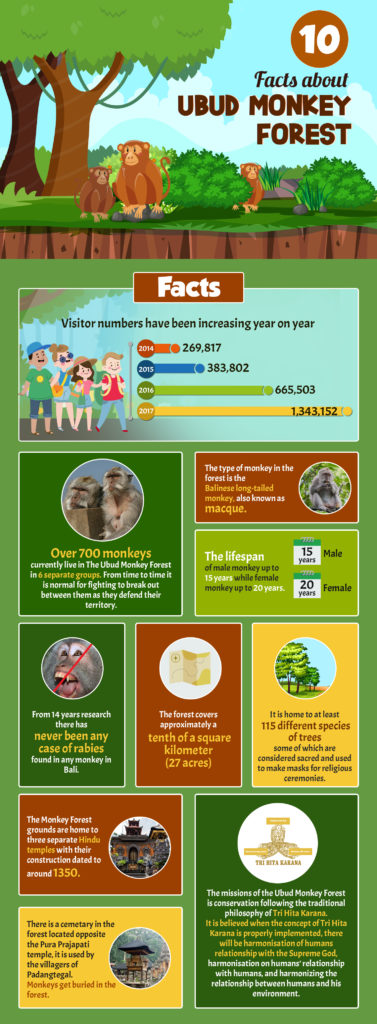 10 facts about Ubud Monkey Forest infograpic