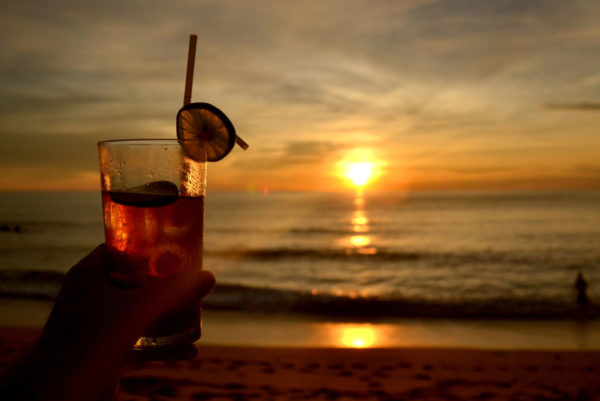 Living the good life with sunsets and cocktails