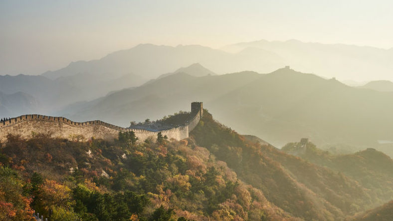 The Great Wall of China with no people