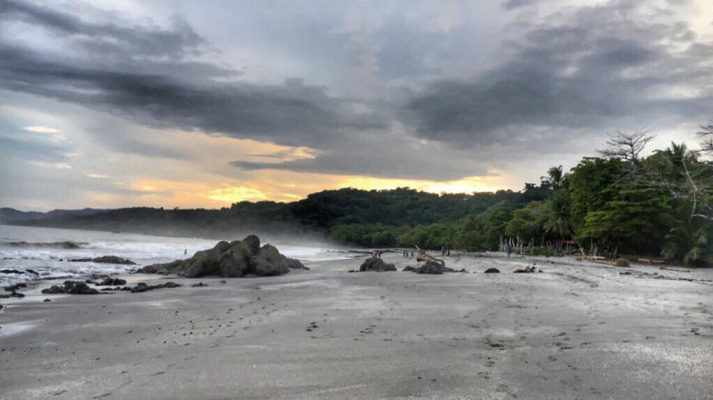Sunset on a beach in Costa Rica