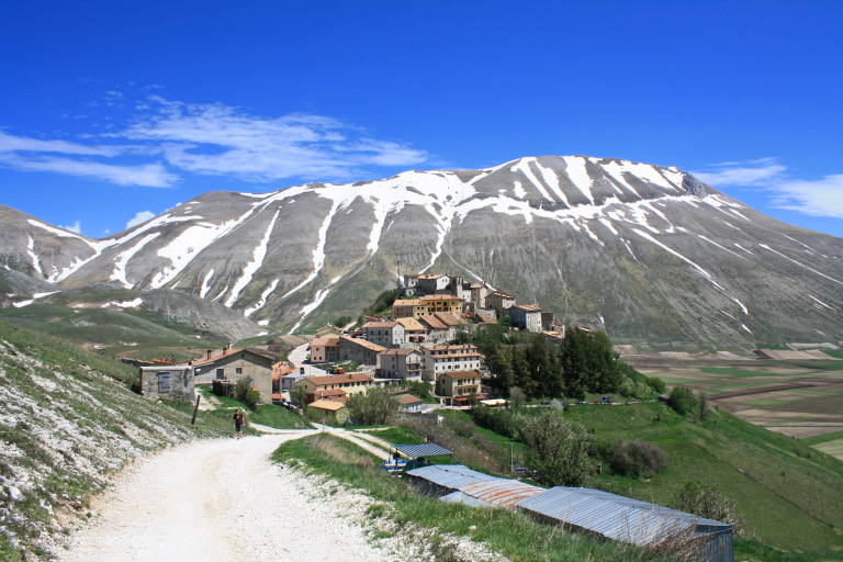 The Italian town of Castelluccio