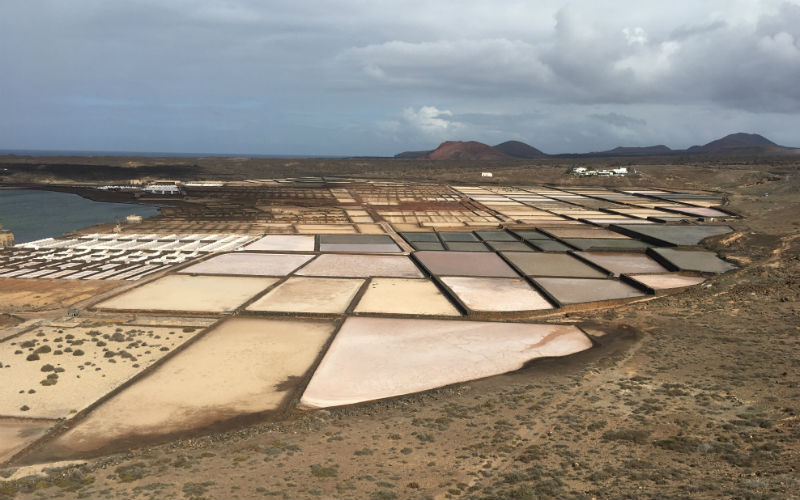 The salt making centre of Lanzarote