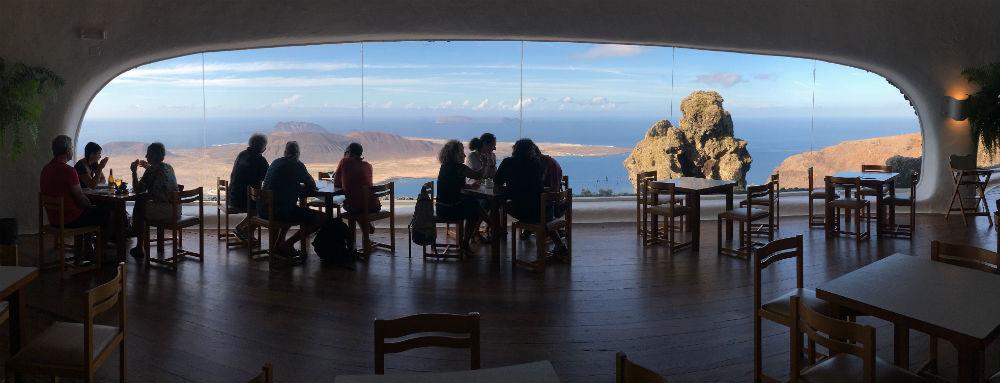 The cafe at Mirador del Rio