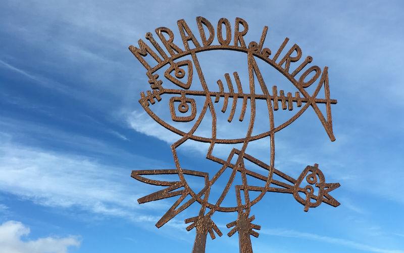 The entrance of the mirador designed by Cesar Manrique
