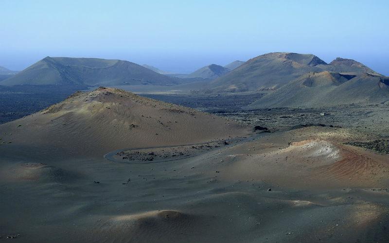 The volcanic landscape of Timanfaya National Park