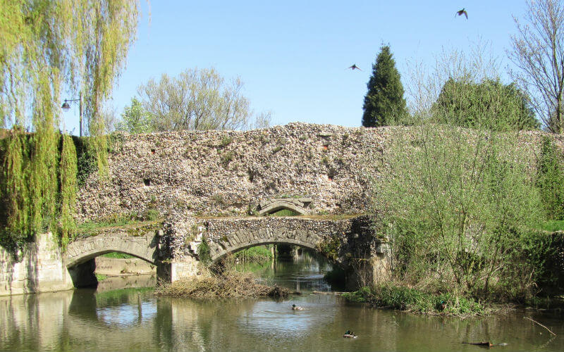 Abbots Bridge in Abbey Gardens Bury St Edmunds